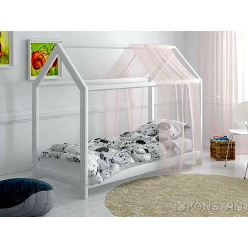 Кроватка Дом Белая
