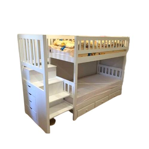 Кроватка Белая Двухэтажная